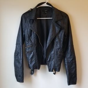 Black Cut Out Biker Jacket